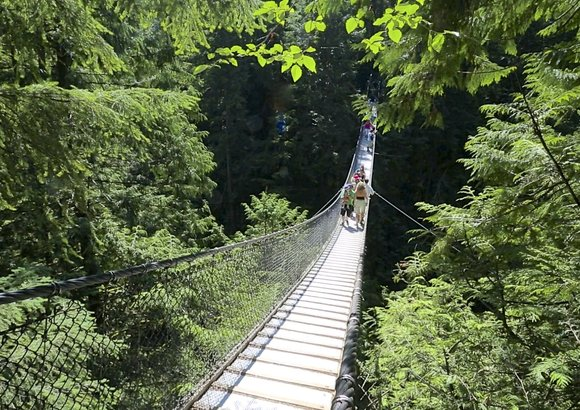 Suspension bridge lynn valley